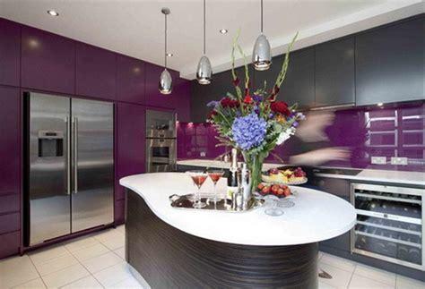 disenos de cocinas color purpura