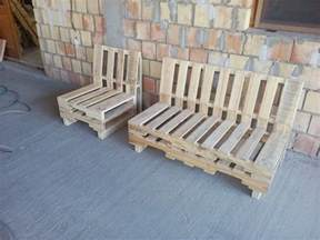 pallet bench and chair set pallet furniture
