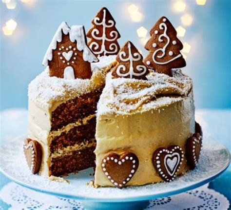 bbcchristmas cookingitems gingerbread cake with caramel biscuit icing recipe food