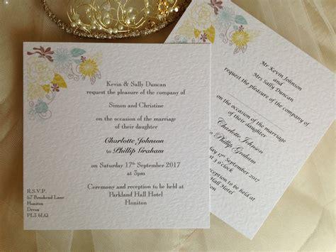 colorado wedding invitations blooms flat square wedding invitations wedding invites