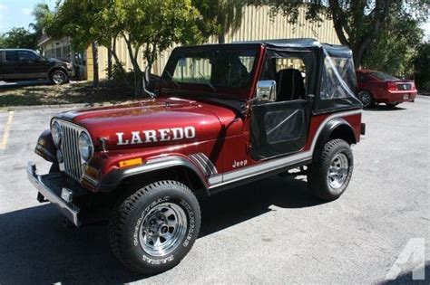 Jeeps For Sale Florida Jeep Cj7 Laredo For Sale In Sarasota Florida Classified