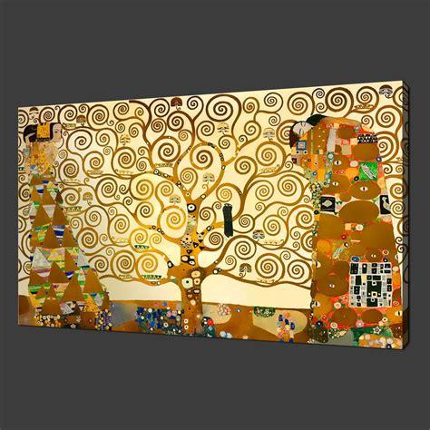 printable art canvas gustav klimt the tree of life canvas print wall art modern