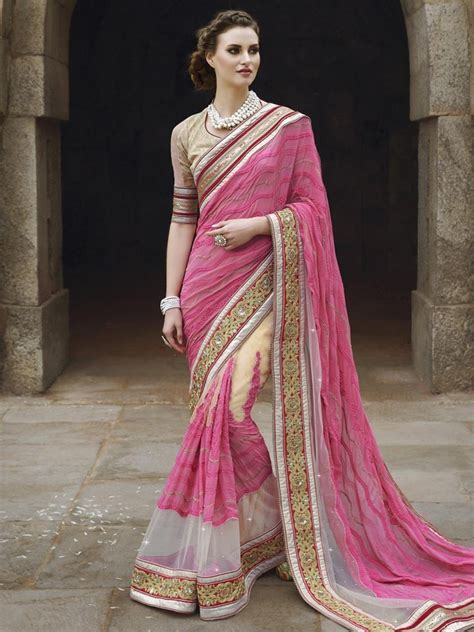 which colour blouse suits for pink saree pink color latest indian designer saree blouse for women