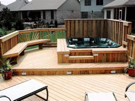 hot tub privacy fence ideas marvelous hot tub privacy fence ideas with solar pool deck