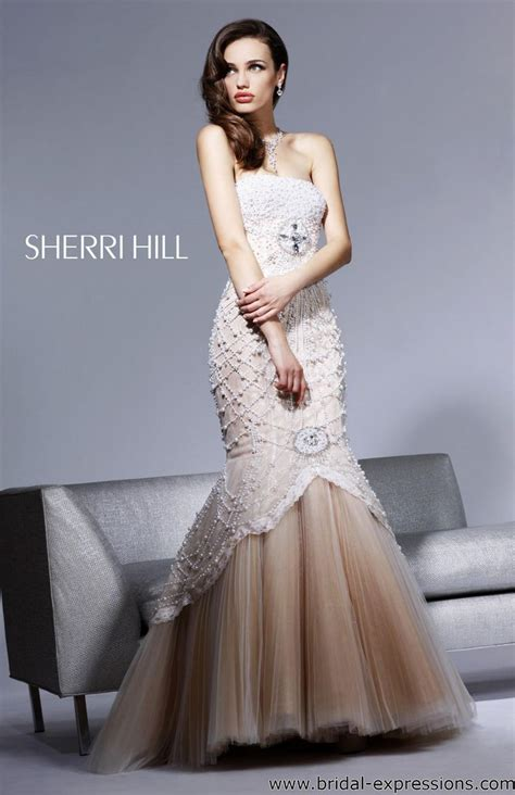 sherri hill beaded prom dress caroline forbes gown sherri hill 2789 beaded