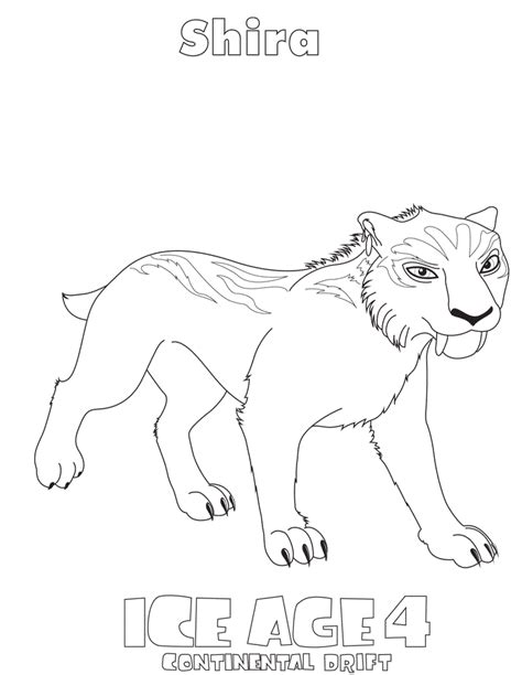 ice age coloring pages 2 coloring kids