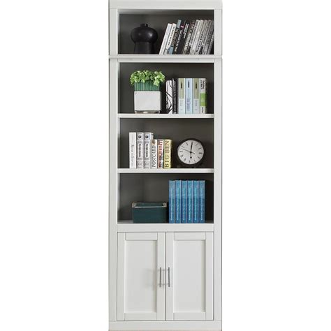 White Bookcase With Doors On Bottom Best Home Design 2018 Modern White Bookcase