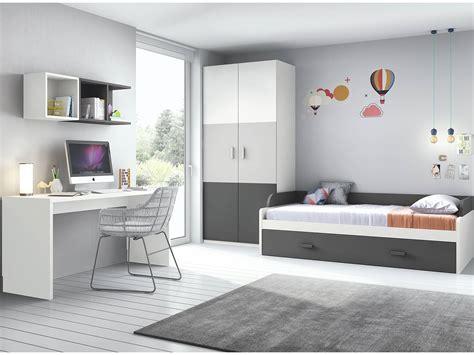 habitacion juvenil madrid dormitorio juvenil gris pizarra