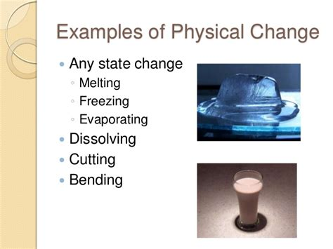 exles of physical changes in science www pixshark com
