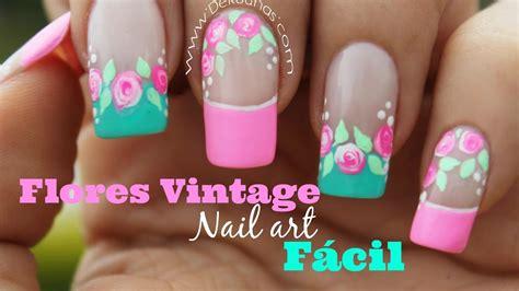 115 u 209 as con flores u 209 as decoradas nail art 5 decoracion de u as caritas youtube decoracion de u 241