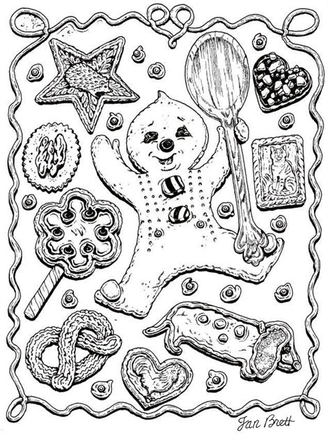 Gingerbread Baby Coloring Pages jan brett gingerbread baby house to color search results