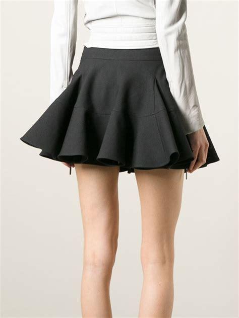 Godet Skirt ter et bantine godet skirt in black lyst