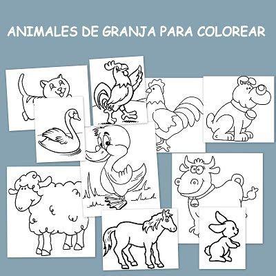 imagenes de animales de granja para colorear animales de granja para colorear escuela en la nube