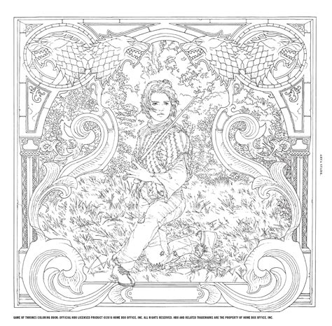 thrones colouring book images book of thrones coloring pages arya page crline you