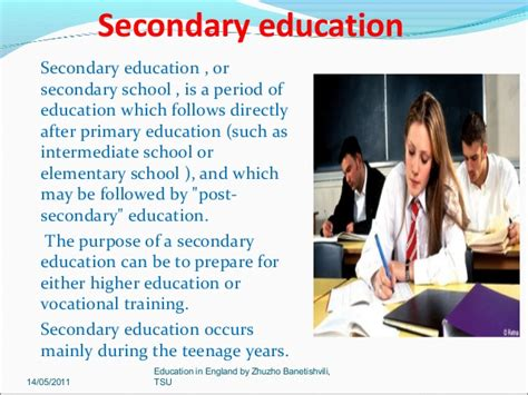 education secondary education in