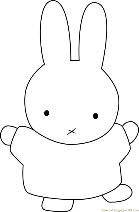 miffy dancing coloring page free miffy coloring pages