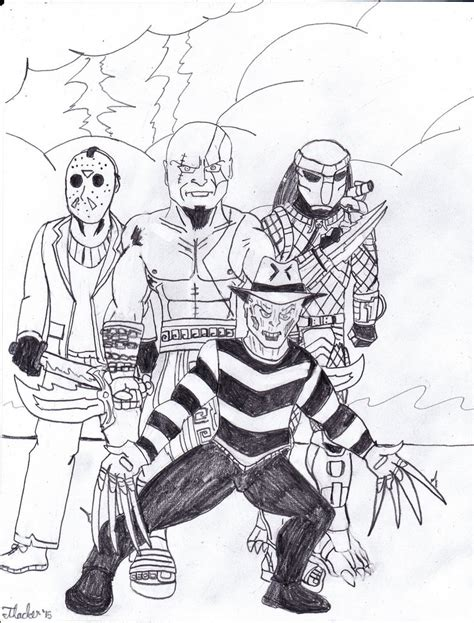 Freddy Vs Jason Coloring Pages Coloring Pages Freddy Vs Jason Coloring Pages