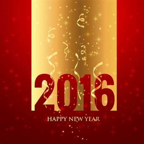new year greetings free golden and new year greeting vector free