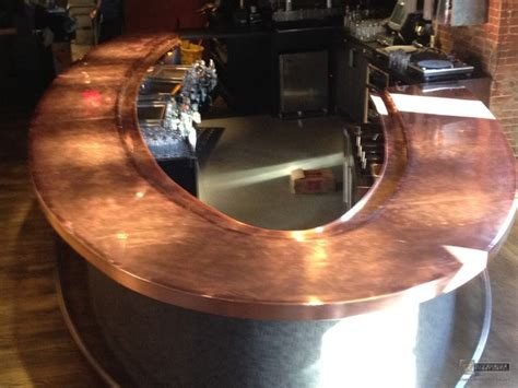 copper bar top cost copper counter tops brick and mortar modern kitchen