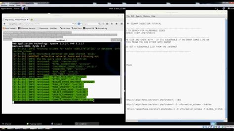 sql injection tutorial kali linux sql injection using sqlmap linux kali and how to