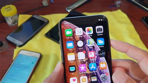 view battery percentage indicator on iphone x xs xs max xr