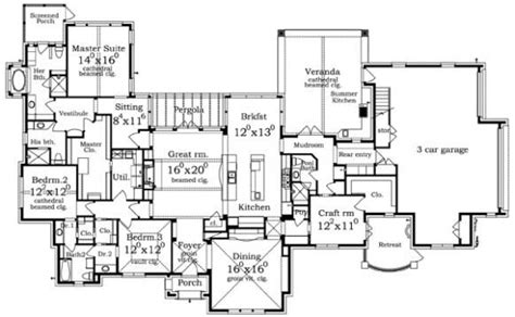 luxury ranch floor plans luxury ranch house plan assisi front floor plans pinterest