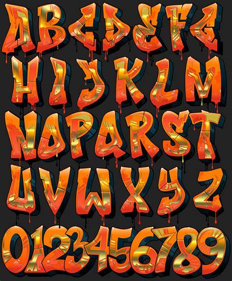 numeros en letra graffiti newhairstylesformen2014 com letras de gaffiti on behance