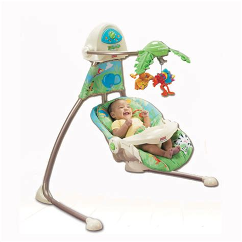 fisher price cradle n swing rainforest fisher price rainforest open top cradle swing k6077 ebay