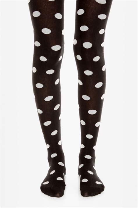 Legging Polkadot White tabbisocks tights black tights polka dot tights 29 00