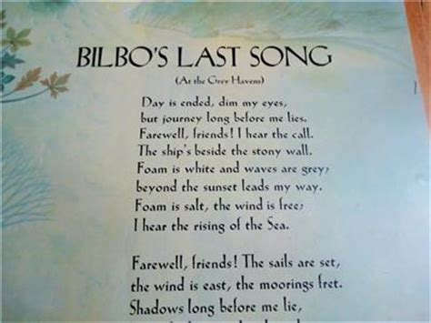 bilbos last song j r r tolkien bilbo s last song 1974 earliest available copy poster lord of ebay