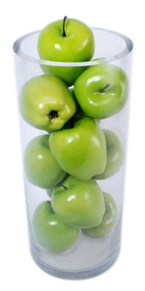 Fruit Vase Filler by Kiera Grace Decorative Fruit Vase Fillers 12 Green Apples