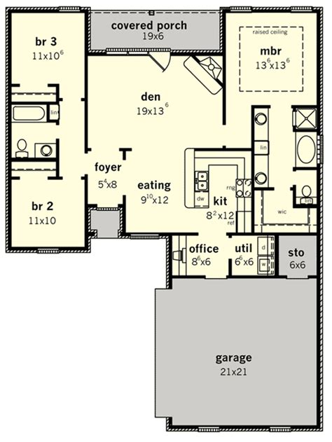 starter or retirement home plan 83098dc architectural