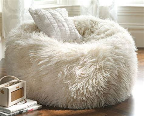 big white fluffy bean bag bean bag chair militariart