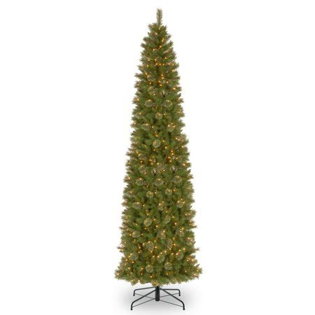 walmart skinny christmas tree 12 ft tacoma pine pencil slim tree with clear lights walmart