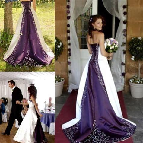 Brautkleider In Lila by Kaufen Gro 223 Handel Wei 223 Und Lila Brautkleider Aus