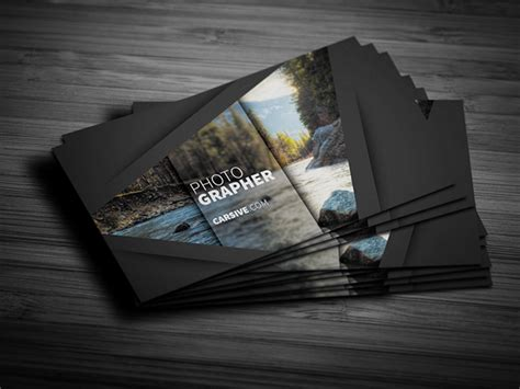 Creative Business Card Template Freebie On Behance Card Templates For Photographers 2014