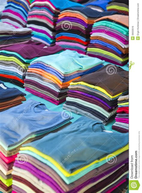 colorful t shirts colorful t shirts stock photo image 39033516