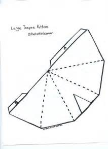 Teepee Template by Teepee Pattern For The