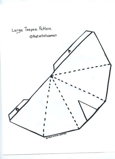Teepee Template teepee pattern for the
