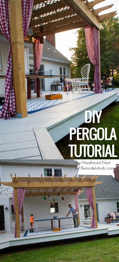 how to make your own pergola diy pergola tutorial how to build your own backyard shade