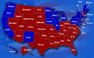 Map Of Blue And Red States by Blue States Bloom While Red States Drown