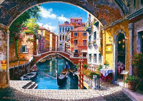 wallpaper cool house venice gondola painting wallpaper desktop wallpapers