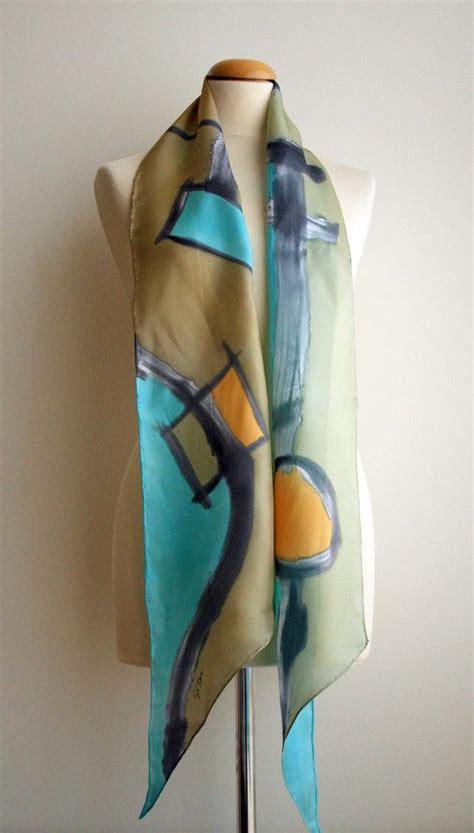 painted silk scarf silk scarf painted silk