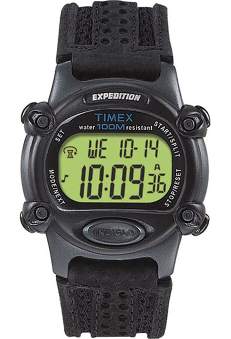 Expedition E6318m Leather Black List timex expedition watches