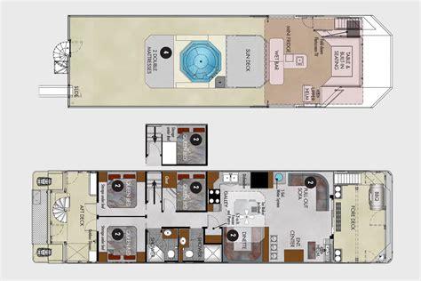 houseboat floor plans 62 foot journey houseboat