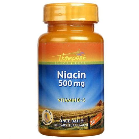 Where To Buy Niacin Detox Pills by Buy Thompson Niacin 500 Mg 30 Tablets Evitamins Australia