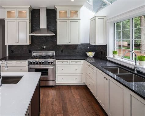 25 best collection of kitchen white cabinets black countertops