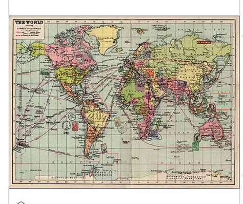 How To Make A Paper Map - vintage inspired map wrapping paper by thelittleboysroom