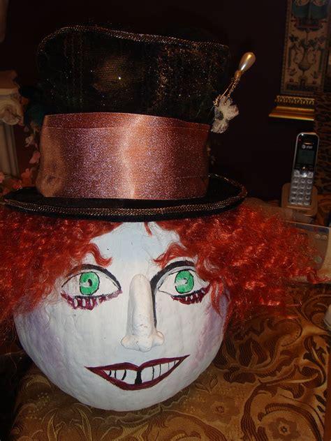 mad hatter pumpkin disney pumpkin pumpkin decorating
