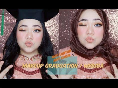 tutorial makeup inez makeup wisuda memakai inez eyeshadow graduation makeup